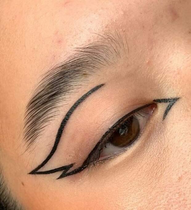 как необычно накрасить глаза
