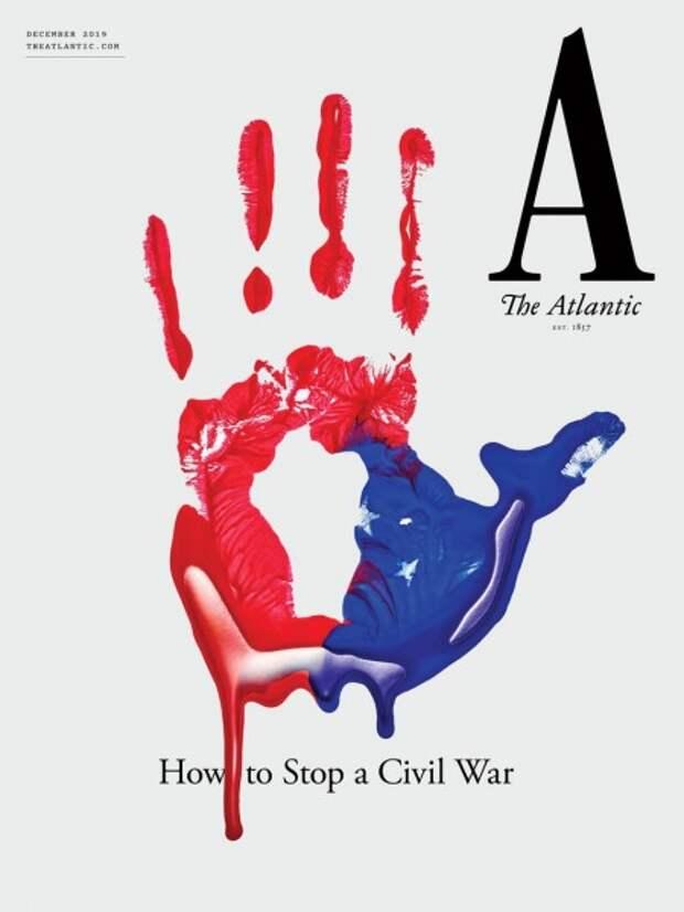 свежая обложка престижного журнала «The Atlantic».