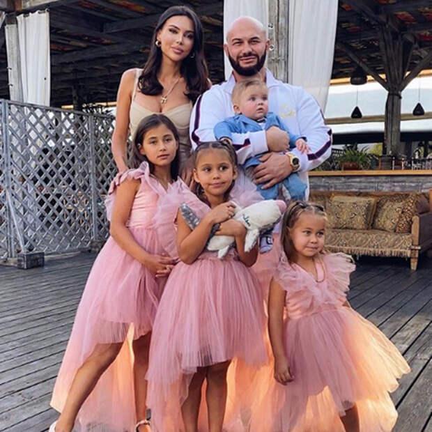 Джиган отметил 35-летие с Оксаной Самойловой и детьми на вечеринке в Москве