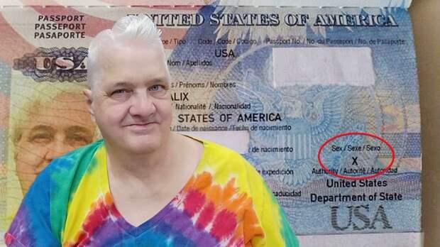 В США выдан первый паспорт «бесполому» гражданину