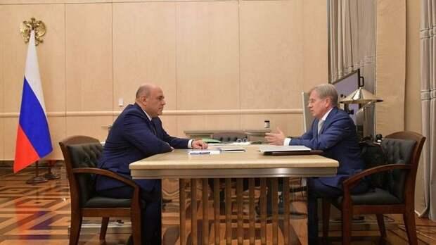 Михаил Мишустин на встрече с главой