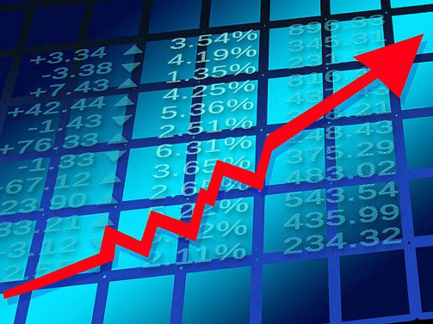Российский рынок акций начал неделю в плюсе