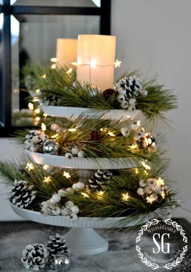 Рождественские композиции. Теперь даже если у вас нет этажерки, вам обязательно захочется ее купить