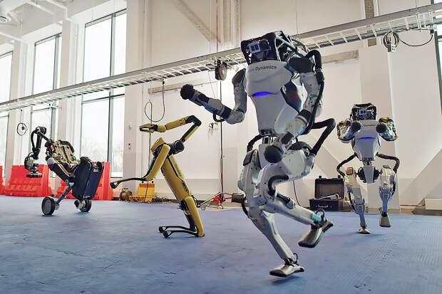 Роботы Boston Dynamics станцевали твист
