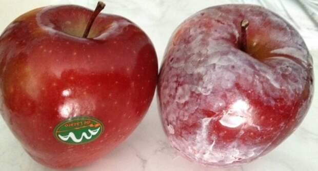 восковое покрытие на яблоках