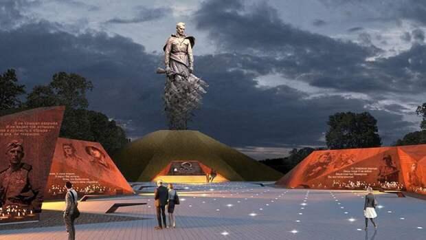 Зрелищное шоу в честь Дня Победы прошло в небе над Ржевским мемориалом