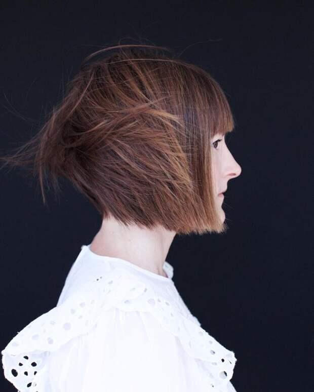 Стрижки после 50 лет на каштановые волосы фото 4