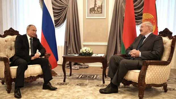 Песков сообщил об окончании переговоров Путина и Лукашенко