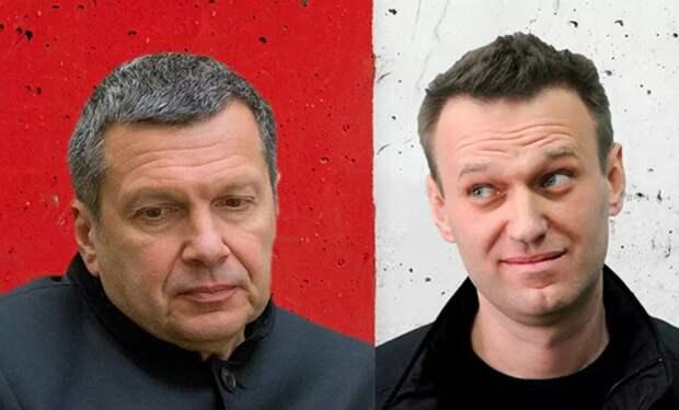 То есть человек совсем поехал башкой – Соловьев о Навальном