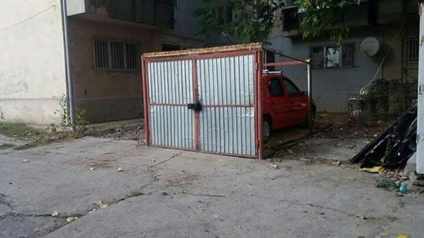 Гараж есть не у всех, но все о нём мечтают гараж, гаражи, за гаражами, забавно, прикол, юмор