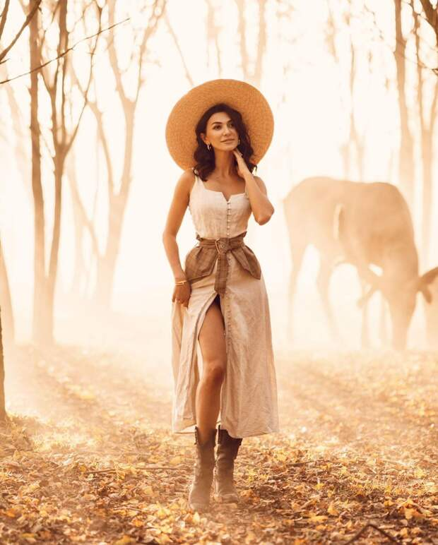 Девушки, цветы и животные: красивые фотографии ДарьиБулавиной