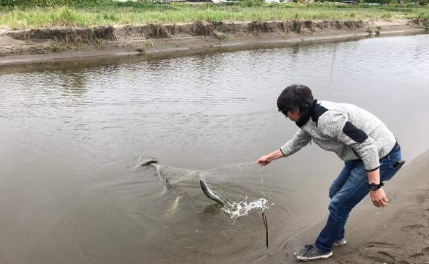 Одну из рек в Макаровском районе перекрыли браконьеры