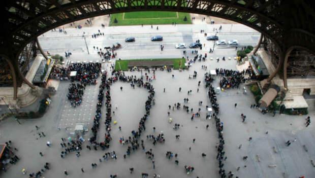 Как выглядит Париж сЭйфелевой башни