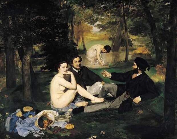 Скандальная картина Мане, или как не стоит завтракать на траве (1 фото)