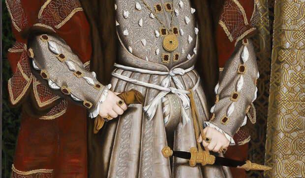 """Ганс Гольбейн Младший, """"Портрет Генриха VIII"""", фрагмент"""