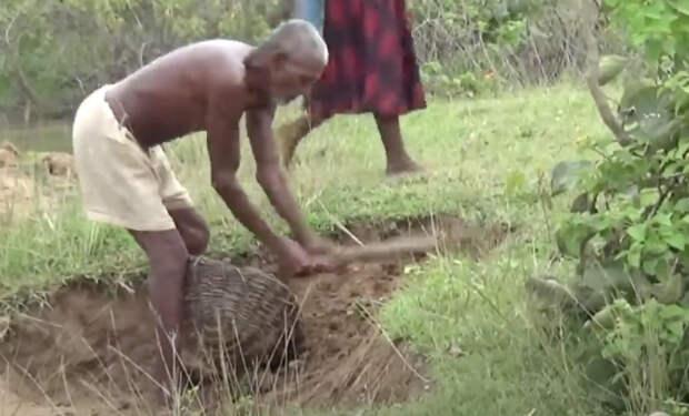 30 лет индиец копал канал одной мотыгой. В него перестали верить, но однажды в канале появилась вода