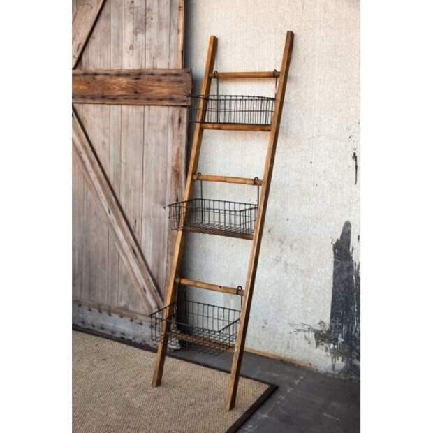 15 крутых идей использования старой лестницы-стремянки, которые впишутся в любой интерьер дизайн, из старых вещей, лестница, своими руками, стремянка, фото