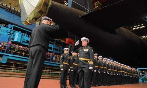 ВСеверодвинске спустили наводу атомную подводную лодку «Красноярск»