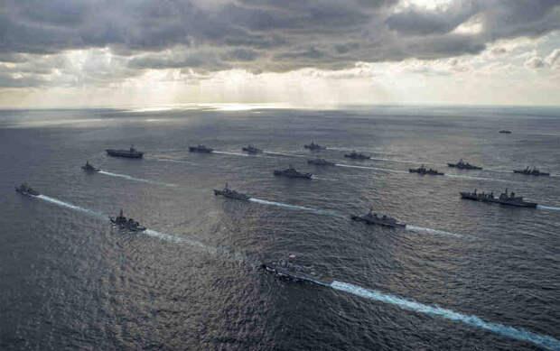 Российские корабли начали учения в Тихом океане