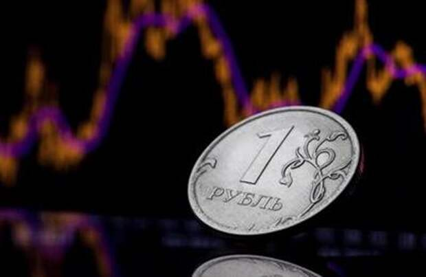 FILE PHOTO: A view shows a Russian one rouble coin in this picture illustration taken October 26, 2018. Picture taken October 26, 2018. REUTERS/Maxim Shemetov/File Photo