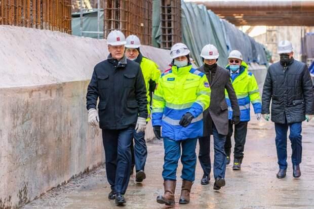 Сергей Собянин дал старт работе тоннелепроходческого щита на участке БКЛ / Фото: Максим Мишин, пресс-служба мэра и Правительства Москвы