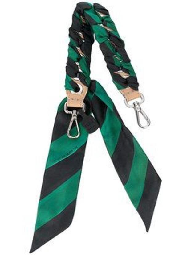 ремень для сумки кожа и шелк платок