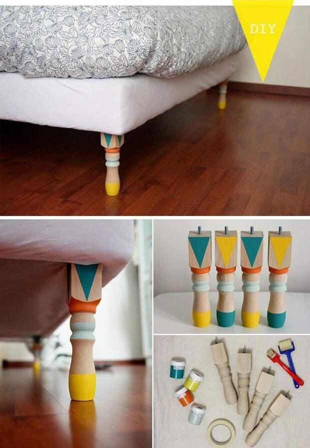Роспись ножек кровати DIY
