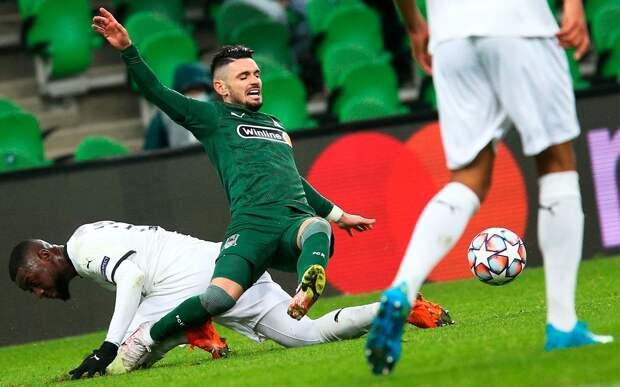 «Краснодар» одержал 1-ю победу на групповом этапе Лиги чемпионов в своей истории