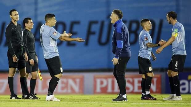 В Южной Америке отстранили судей, ошибочно отменивших гол сборной Уругвая