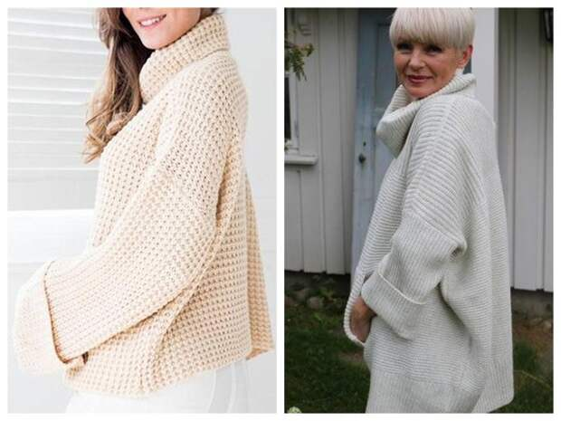 Модели оверсайз можно смело добавлять в свой зимний гардероб