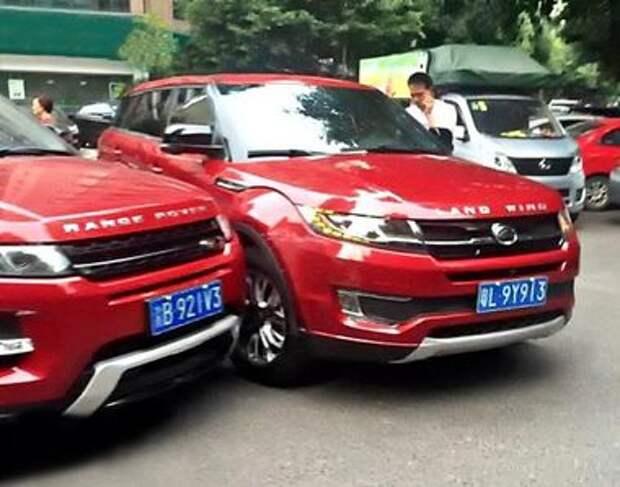 Атака клона: в Китае столкнулись Range Rover Evoque и его копия