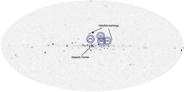 Рентгеновская карта центра Млечного Пути