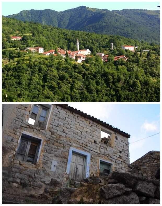 Каррега-Лигуре, расположенная в окружении пяти долин, тоже раздает дома задаром (Италия).