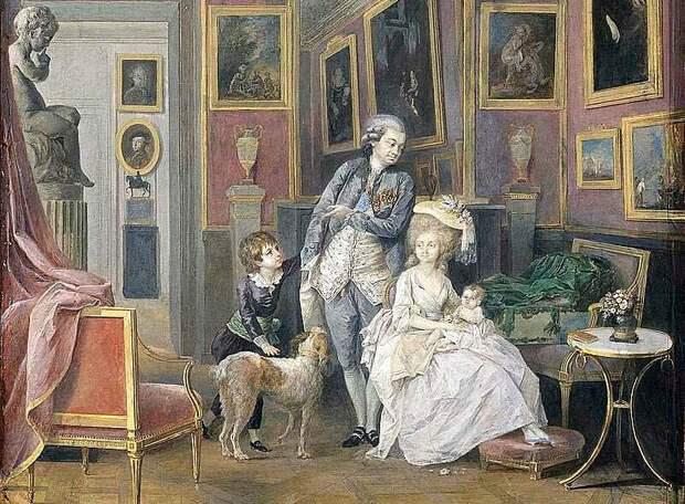 Семья Строгановых в Париже, 1780-е гг.