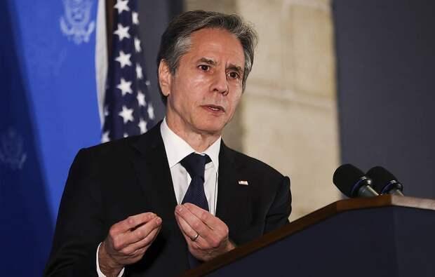 Госсекретарь США Энтони Блинкен EPA-EFE/RONEN ZVULUN/POOL