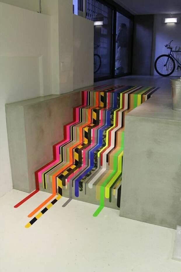 Для такого креатива нужна всего лишь клейкая лента Фабрика идей, красота, креатив, лента, ремонт