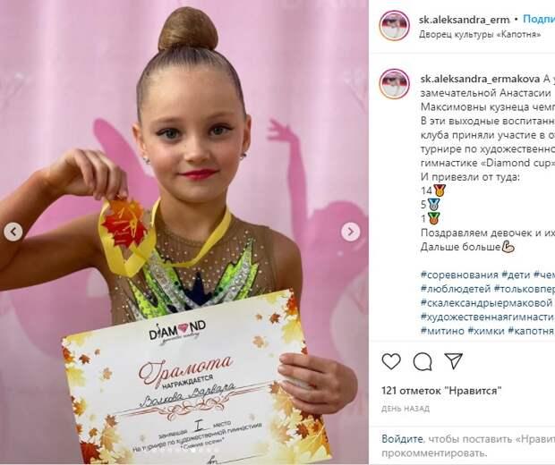 Гимнастки из Капотни взяли 14 золотых наград на открытом турнире