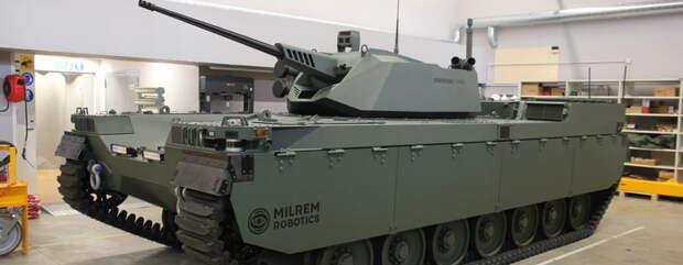Эстонцы показали авиадесантируемый беспилотный танк