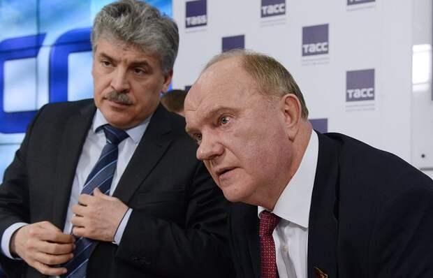 Послушал я пресс-конференцию Грудинина и Зюганова. У меня уши в трубочку от такой примитивной лжи закрутились