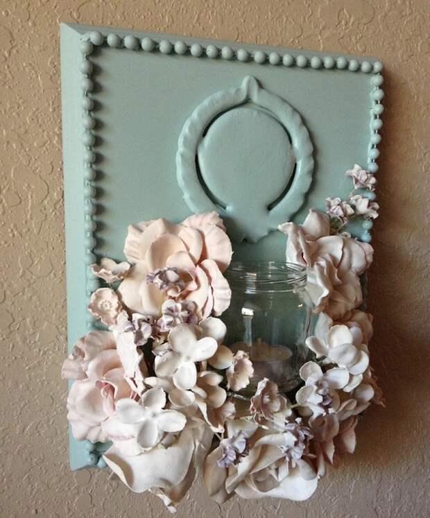 Купила искусственные цветы и развела порошок до консистенции сметаны. Потрясающий декор!