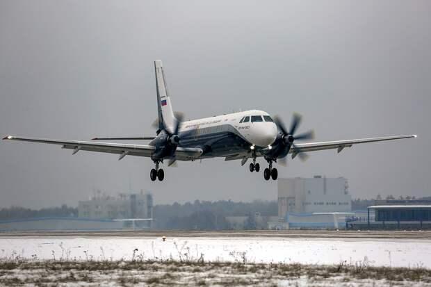 Новый пассажирский турбовинтовой самолет Ил-114-300 совершил первый полет.