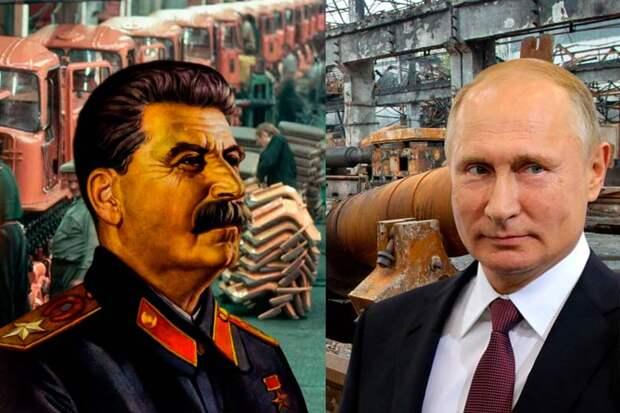 Индустриализация Сталина и Путина