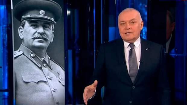 В передаче «Вести недели» Киселев заявил, что надо выдавливать из себя маленького Сталина