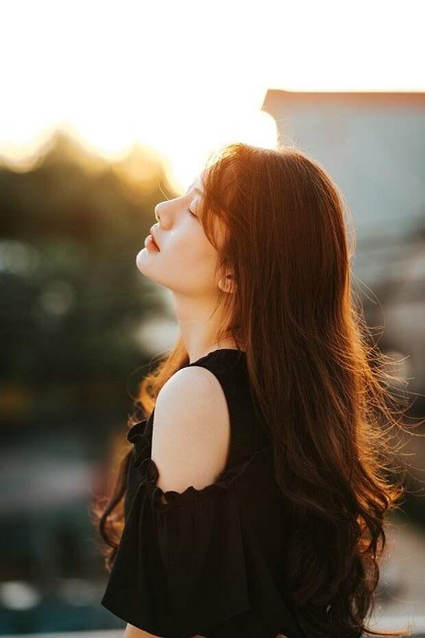 Девочка, Красота, Портрет, Профиль, Солнечный, Летом