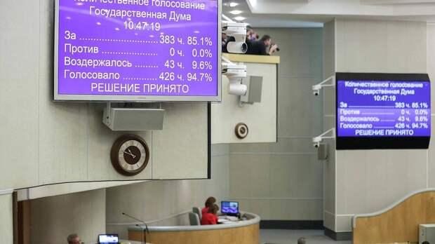 Депутаты Госдумы приняли в окончательном чтении закон о поправках к Конституции
