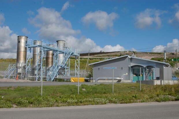 Газоэлектростанция на полигоне Аммяссуо