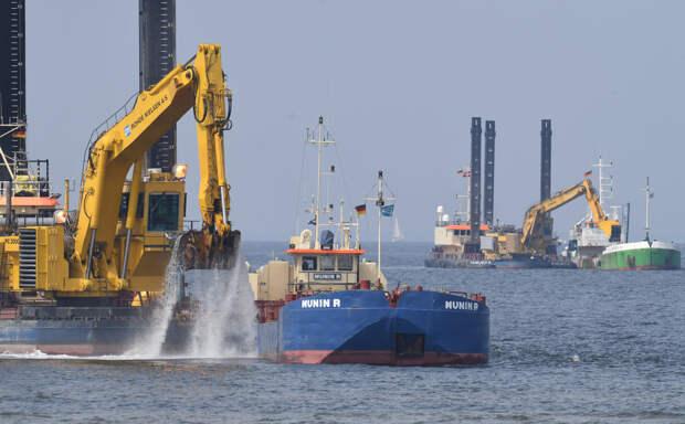 Взоне строительства «Северного потока 2» активизировались военные корабли