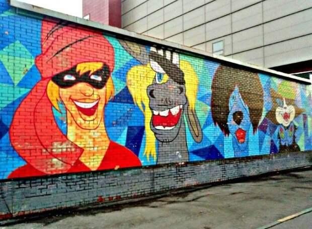 приятное уличное граффити