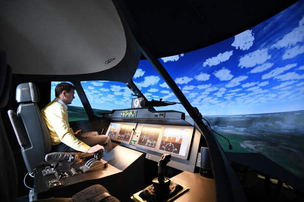 Пилотажный стенд ПС-МС ЦАГИ: продолжаются работы по исследованию перспективного самолета МС-21. Фото: РИА Новости