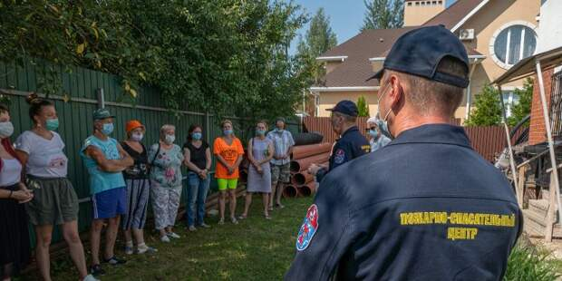 Московские дачники прошли ликбез по пожарной безопасности